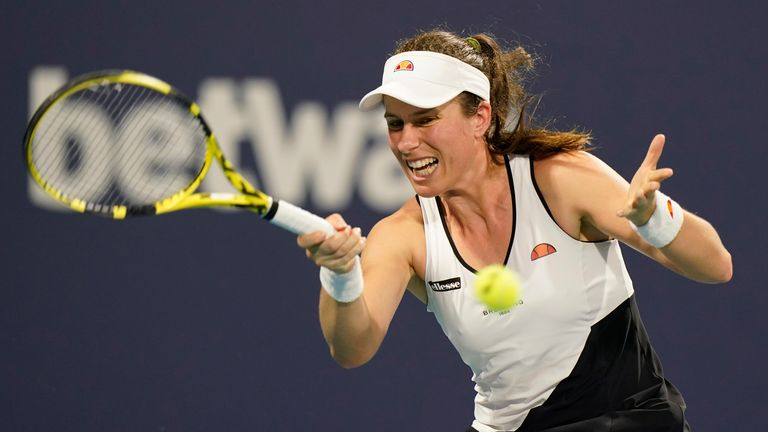 Johanna Konta has had to pull out of the Games after testing positive for COVID-19 Pic: AP