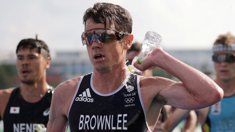 Jonny Brownlee went into the race looking for the gold medal that has always eluded him, but finished fifth