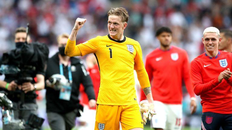 Jordan Pickford has praised his teammates in helping the goalkeeper keep four clean sheets