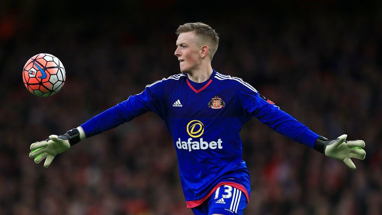 Pickford made his debut for Sunderland against Arsenal in January 2016