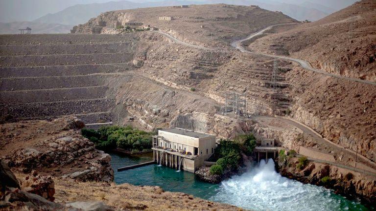 The Kajaki Dam is seen July 28, 2011 in Kajaki, Helmand province, Afghanistan. Pic: AP