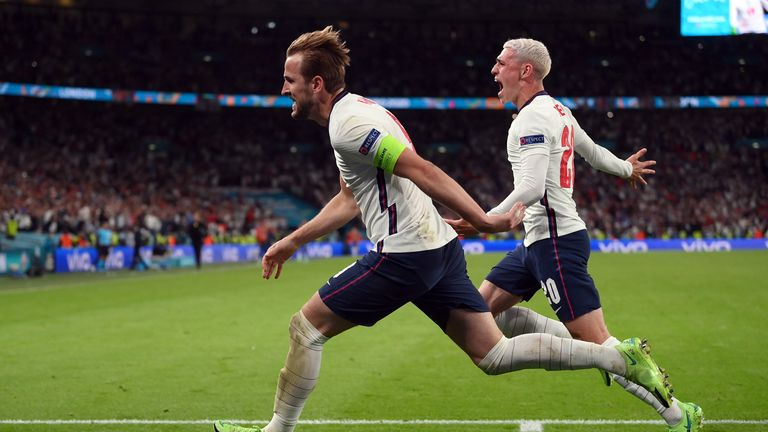 Kane scored the follow-up after his spot kick was saved in extra time