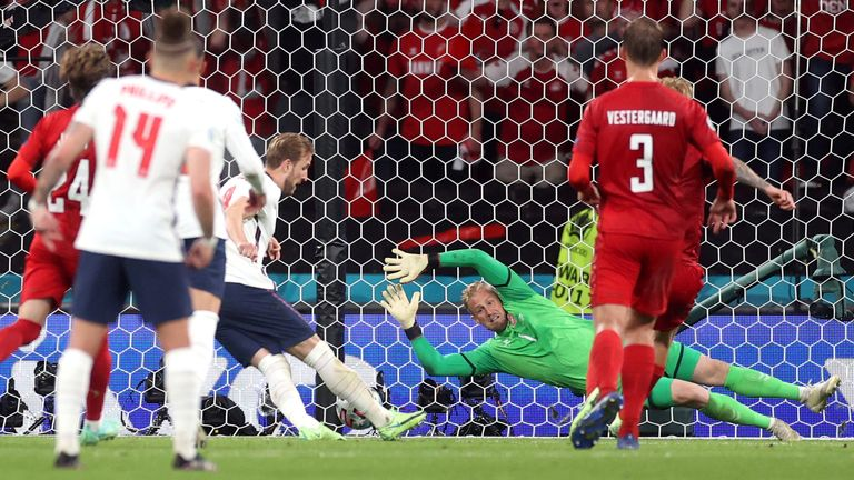Denmark's coach said England's penalty should not have been given