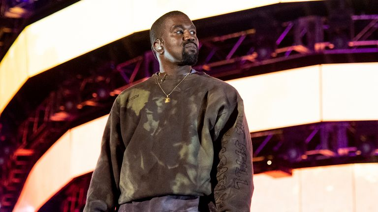 FILE - This April 20, 2019 file photo shows Kanye West performing at the Coachella Music & Arts Festival in Indio, Calif. Christian artists Zach Williams and for King & Country are the leading artist nominees at the 2020 Dove Awards, while rapper Kanye West and singer Gloria Gaynor earned their first ever nominations. (Photo by Amy Harris/Invision/AP, File)
