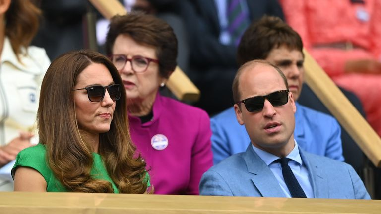 The royal couple attended Wimbledon on Saturday. Pic: Reuters