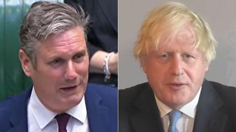 Sir Keir Starmer and Boris Johnson