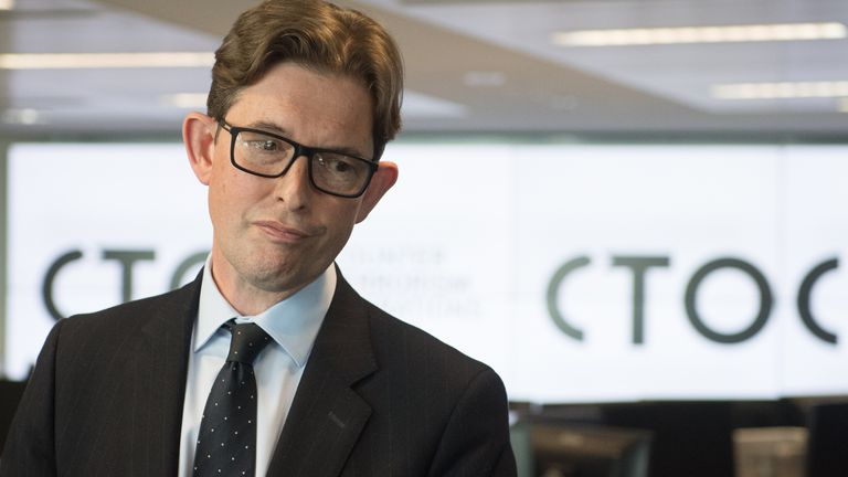 EMBARGOED TO 2200 MONDAY JUNE 28 Director General of MI5 Ken McCallum during a visit to the new Counter-Terrorism Operations Centre (CTOC) in West Brompton, London. Picture date: Monday June 28, 2021.