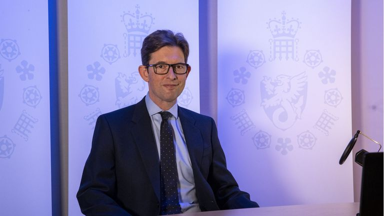 Handout photo of the new director general of MI5 Ken McCallum who spoke publicly for the first time on Wednesday.