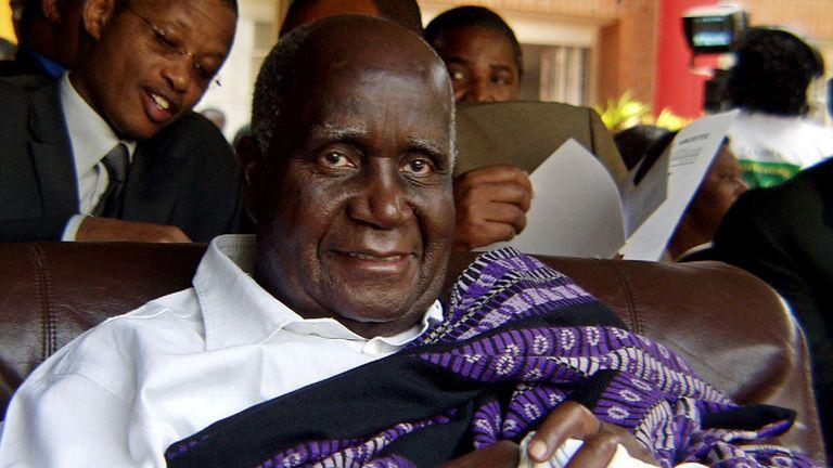 Kenneth Kaunda pictured in Lusaka in 2004. Pic: AP