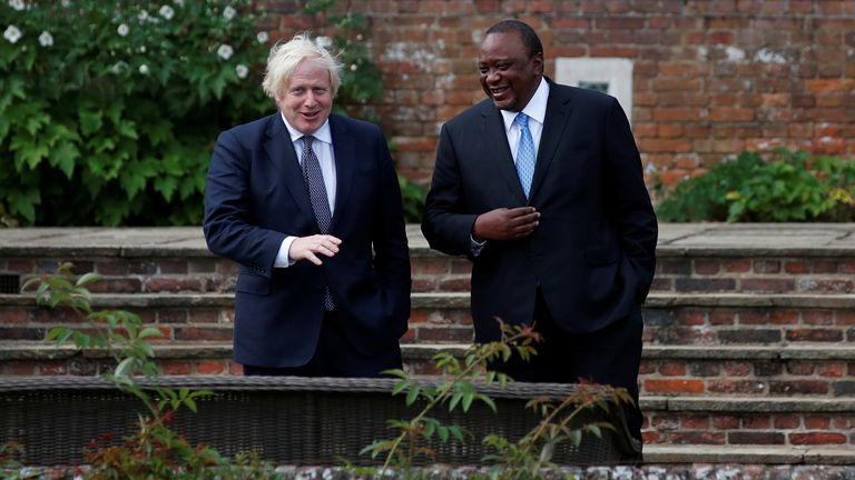 Mr Kenyatta spent time with Mr Johnson at Chequers on Wednesday