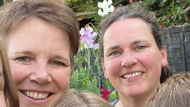Lara Montgomery (left) and her wife Theresa