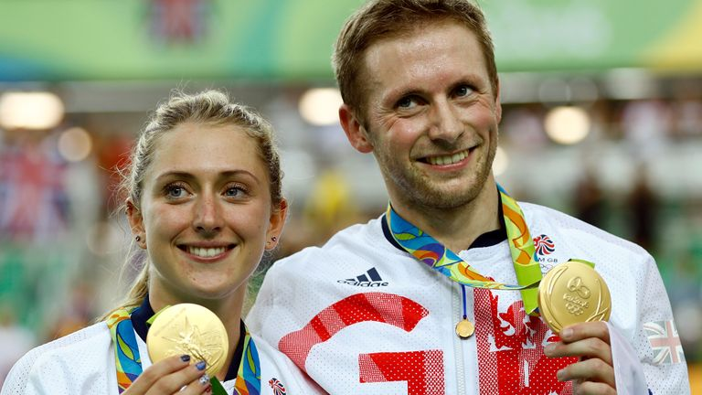 Laura and Jason Kenny are already Olympic champions many times over Pic: AP