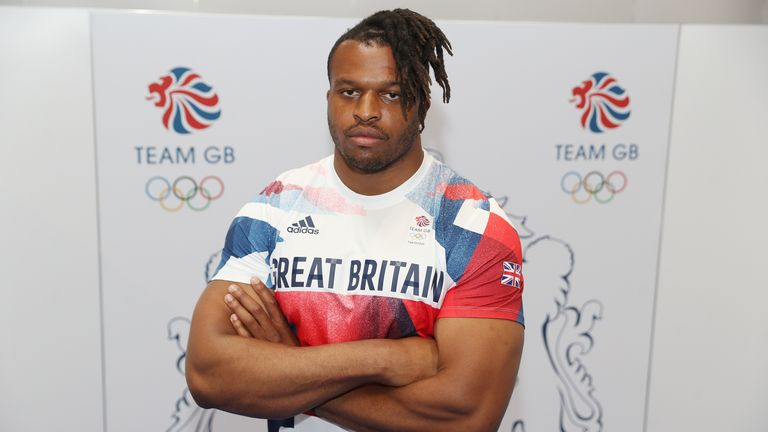 Lawrence Okoye is representing Britain in the discus at the Tokyo Olympics