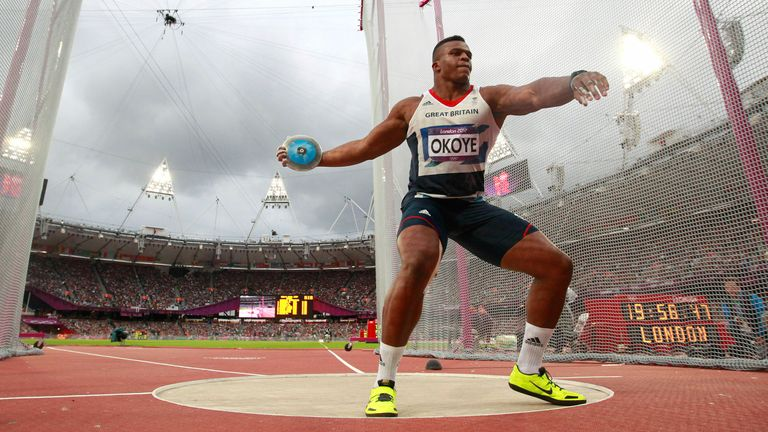 Lawrence Okoye reached the men's discus final at the 2012 Olympics