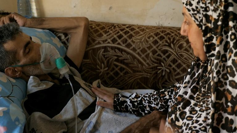 Through her tears, Alia says her husband Walid is 'in pain' and can't sleep or eat