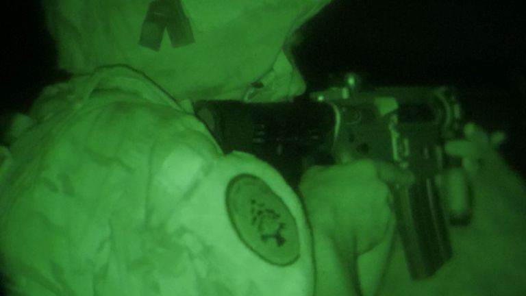 Night vision goggles are essential on a moonless night