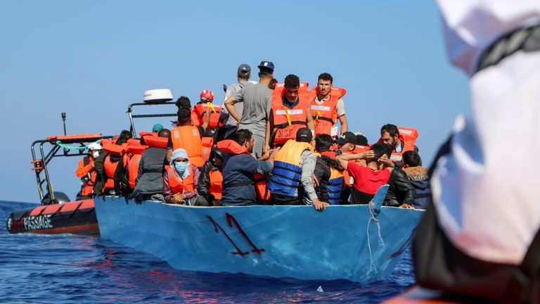 Members of the Doctors Without Borders (MSF) rescue migrants