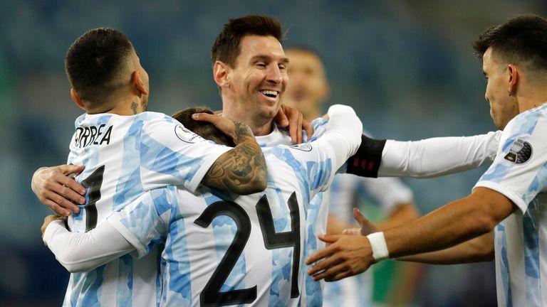 Messi scored twice in Argentina's Copa America clash against Bolivia. Pic: AP