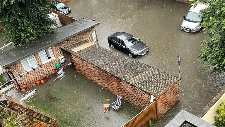 Flooding in London. Pic: LUANA /Reuters