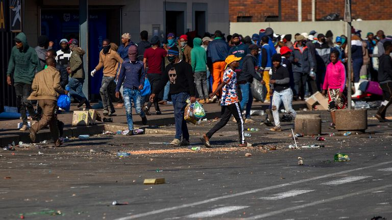 South Africa: 72 people killed in violence, including 10 crushed to death  in looting stampede at shopping centre | World News | Sky News