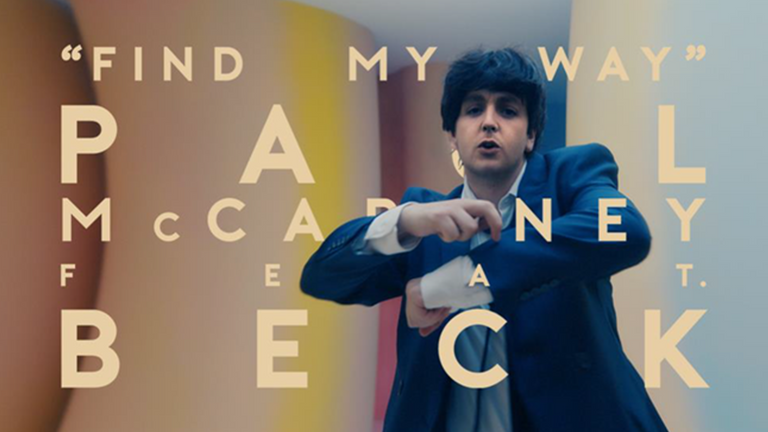 Macca has appeared as a younger version of himself in his latest video