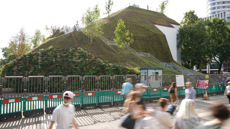 People who have seen or visited the mound have complained about the landscaping and the money spent on its construction