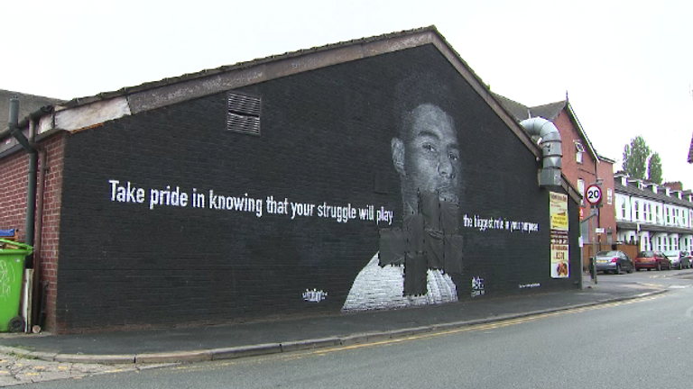 Police are investigating after a Marcus Rashford mural in Withington was vandalised