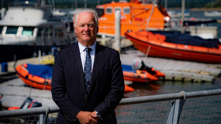 Royal National Lifeboat Institution (RNLI) chief executive Mark Dowie at the RNLI College in Poole, Dorset. Mr Dowie has defended lifeboat crews for helping rescue migrants at sea after volunteers reported being heckled for bringing people to safety. Picture date: Monday July 26, 2021.