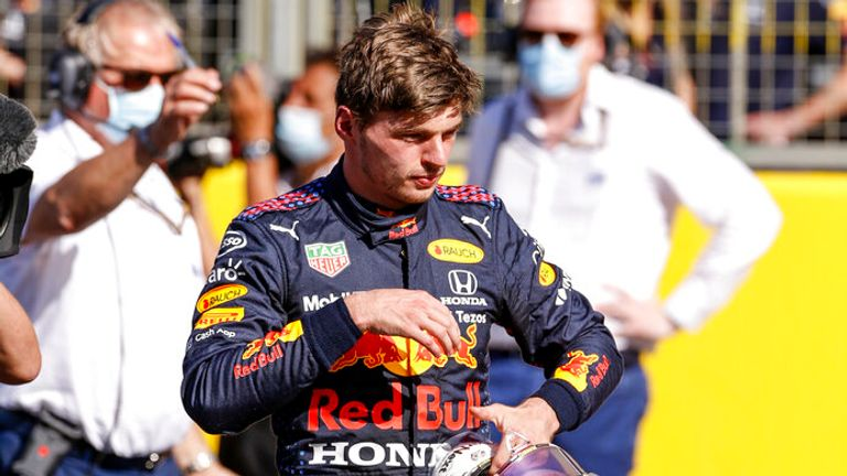 Max Verstappen, pictured on Saturday, was sent to hospital for checks