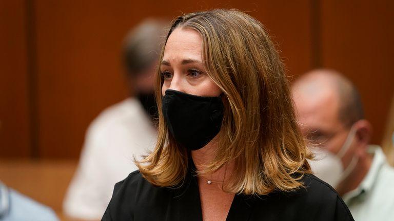 Survivor Michelle Murphy addresses serial killer Michael Thomas Gargiulo during a victim's statement at his sentencing hearing at Los Angeles Superior Court