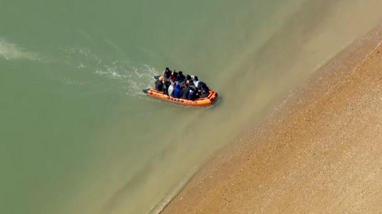 Suspected migrants were seen arriving in Dungeness, Kent