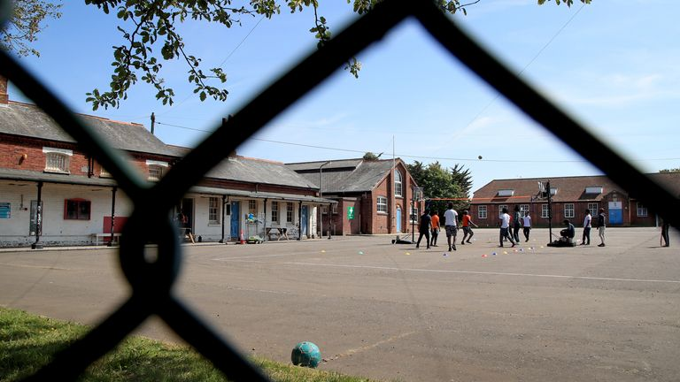 Napier Barracks in Folkestone which is being used by the government to house those seeking asylum in the UK. The Home Office has also refused to say how much it has spent on Napier Barracks or how much money has been handed to contractors. Issue date: Tuesday July 6, 2021.