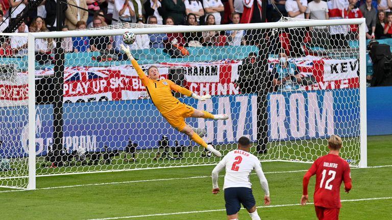 Mikkel Damsgaard's stunning free kick gave Denmark the lead