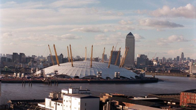 The Millennium Dome cost £758m and opened on 31 December 1999