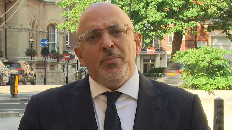 Nadhim Zahawi says the recommended interval between vaccines remains eight weeks