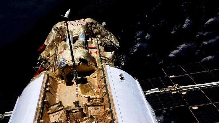 The Nauka Multipurpose Laboratory Module is seen docked to the International Space Station (ISS) on July 29, 2021. Pic: Oleg Novitsky/Roscosmos