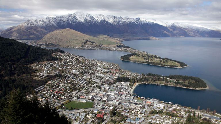 Aerial view of New Zealand