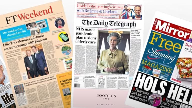 The front pages