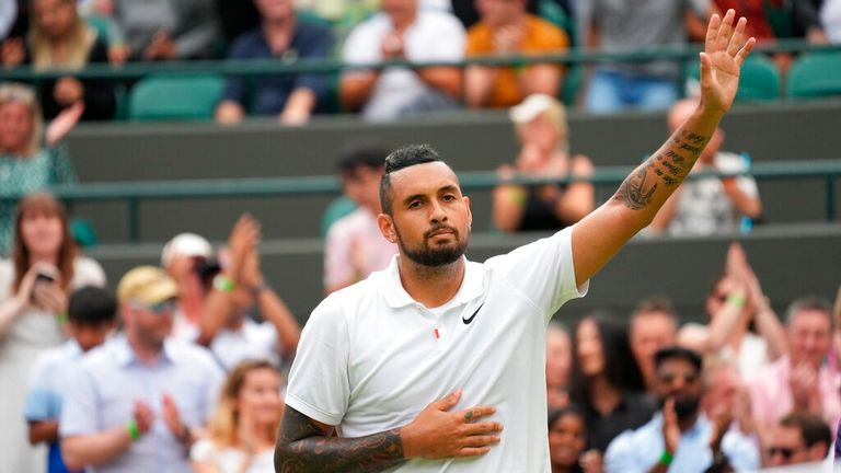 Kyrgios retired from his third round match at Wimbledon last week. Pic: AP