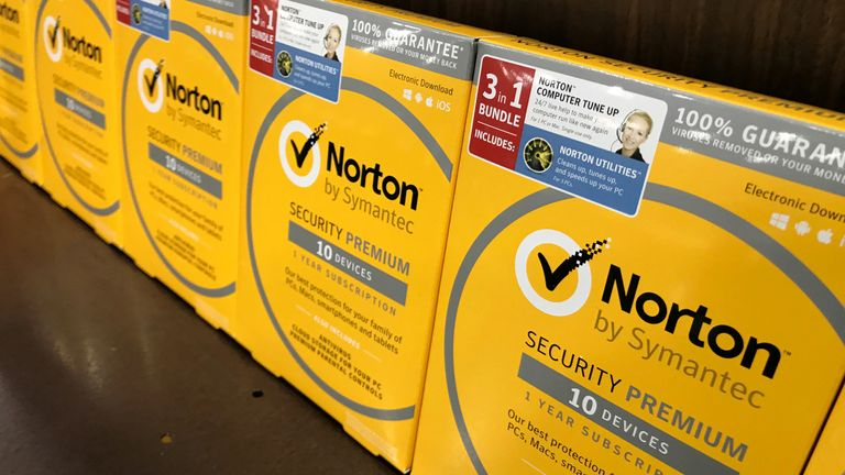 Norton computer security software is shown for sale at a computer store in San Marcos, California, U.S., May 15, 2017