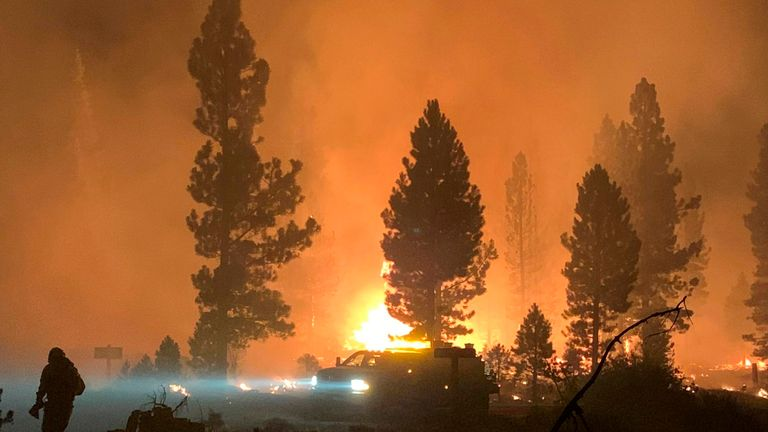 The Bootleg fire has forced people to leave their homes