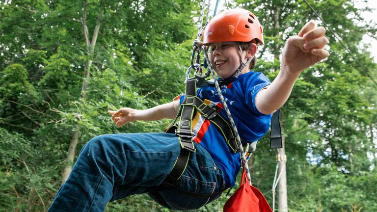 Oliver at the Calvert Lakes outdoor activity centre.