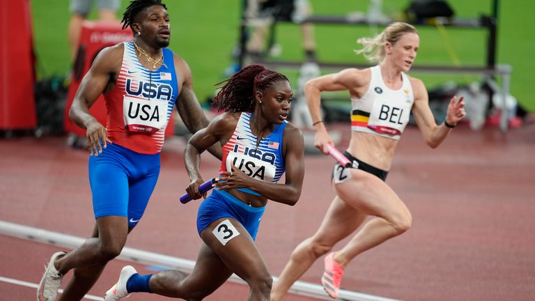 The 4x400m track event is also debuting a mixed format