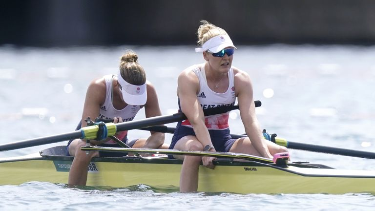 Helen Glover said after the race that she and Polly Swann gave it their all in the final of the women's pair