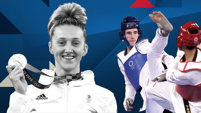 Britain's taekwondo stars Laura Williams and Bradley Sinden