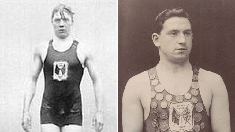 Thomas Battersby (right) and Henry Taylor were the last Brits to win gold and silver at the Olympics in the pool.  The pair finished first and second in the 1908 London Games. Pic National Archives