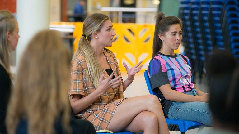 Zara McDermott speaks to teenagers