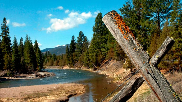 The village of Ovando sits on the Blackfoot River. File pic: AP