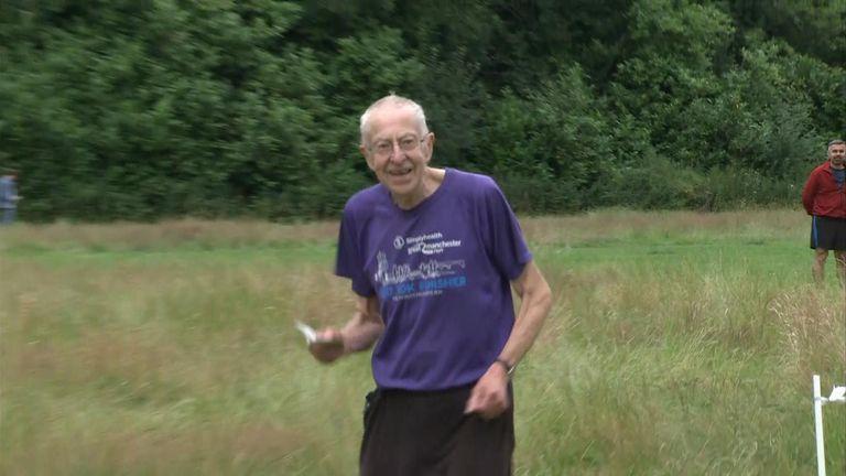 Brian Platt, 83, was happy to be back at Parkrun in Brabyn's Park, Marple Bridge
