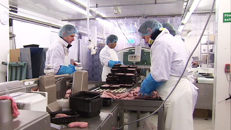 Food workers have been off work after being 'pinged'